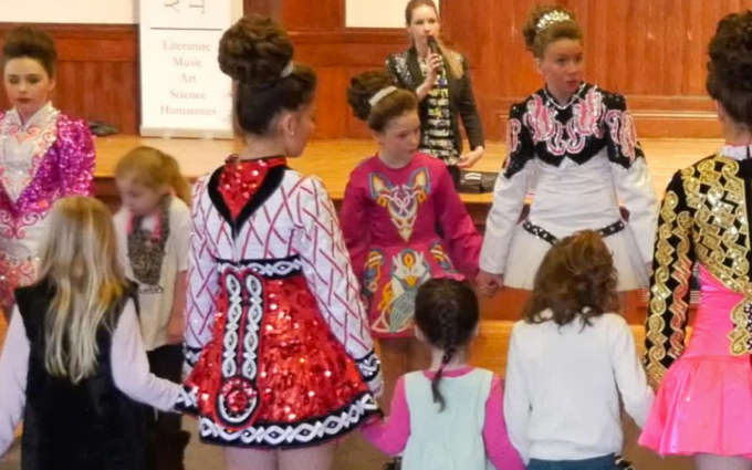 Irish dancing at Pequot Library